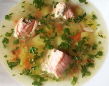 Быстрый суп из нерки