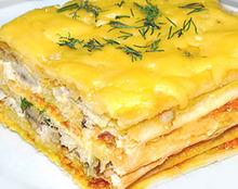 Пирог с неркой и сыром
